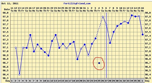 Ovulation Cycle Temperature Chart Cycle 2 Declaration Of